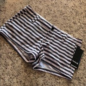 Striped Hurley Board Shorts size 7